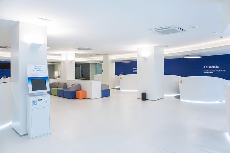Mobiliario Para Bancos.Mobiliario Bbva Proyectos Pauferro En Entidades Bancarias