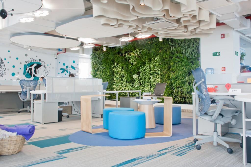 Oficinas que nos inspiran mobiliario comercial contract for Oficinas bimbo bogota