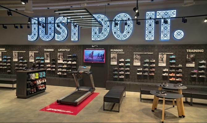 Pais de Ciudadania Familiar Gemidos  Nike Store: Herramienta de motivación | Mobiliario Contract