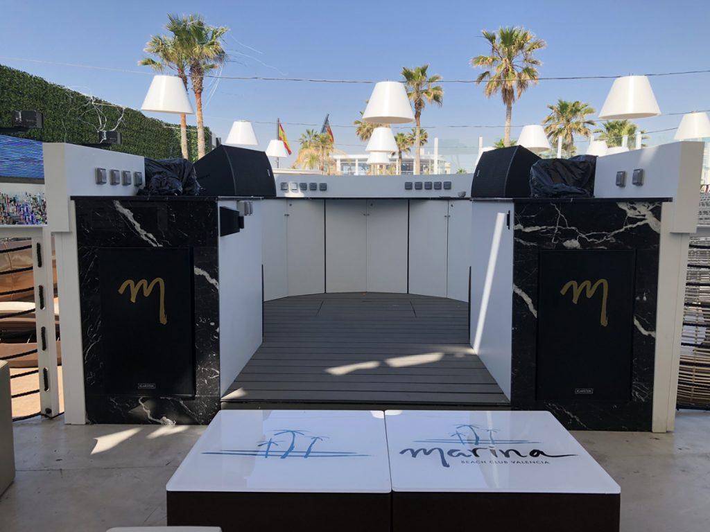 Proyecto Cabina DJ Marina Beach Valencia