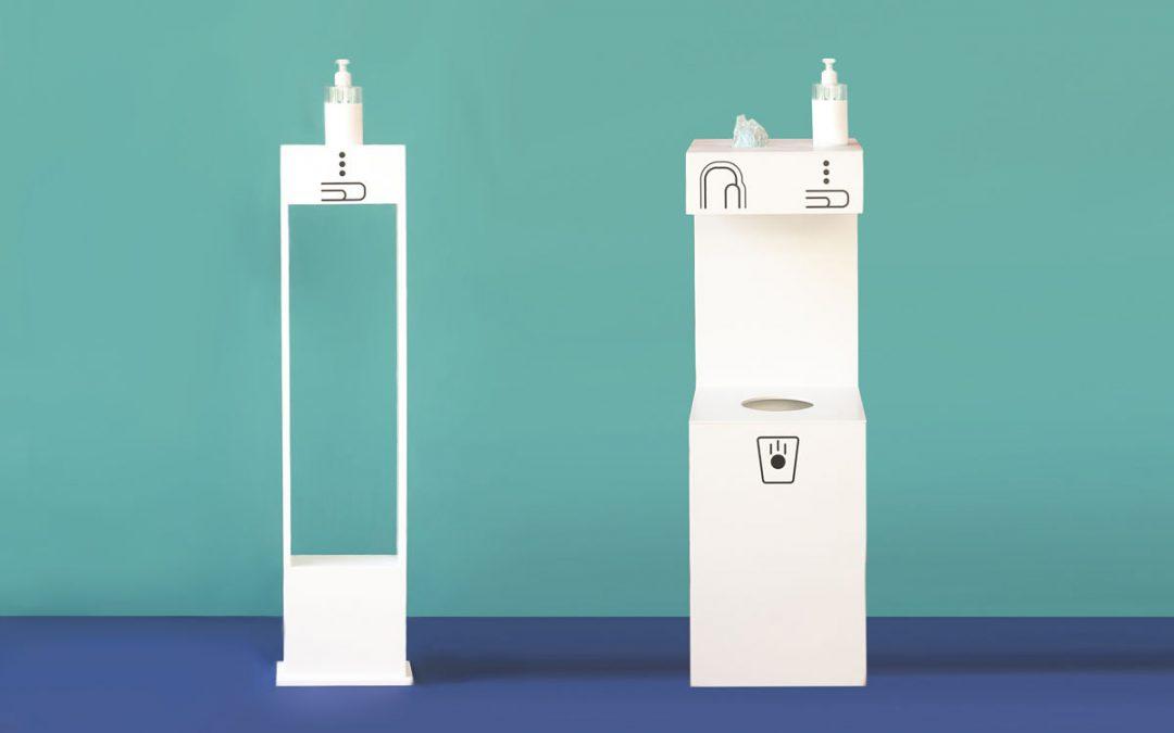 Pauferro diseña puntos de higiene con material antipatógenos